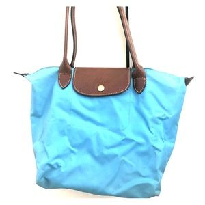 Light blue medium Longchamp Tote